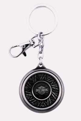 i-gadgets Harley Davidson Motorcycle Wheel 3D Metal Slv Locking Key Chain