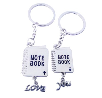 CTW Cute Love Notebook Couple Valentine Gift Pack Key Chain