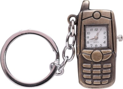 Oyedeal Designer Mobile Phone Shape with Pocket Clock Key Chain