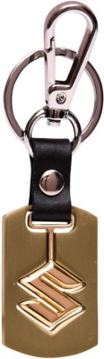 GCT Suzuki Golden Metal Swinging Logo Locking Locking Key Chain