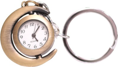 Oyedeal Designer Half moon shape with Pocket Clock Key Chain