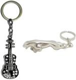 Alexus Guitar And Jaguar Key Chain (Silv...