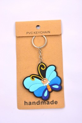Shrisay Ventures Blue Striped Butterfly Pack Of 2 Key Chain