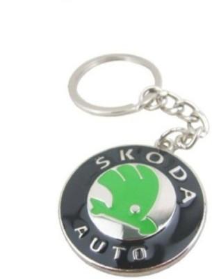 Ezone Skoda Emblem Car Logo Locking Key Chain Key Chain