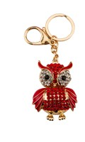 Avaron Projekt Red Owl With Red Stones And Cute Swarovski Detailing Handbag Charm Locking Key Chain(Red) best price on Flipkart @ Rs. 699