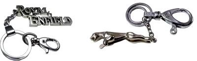 FCS Big Royal Enfield + Jaguar Locking Key Chain