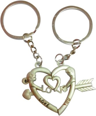 ShopeGift Love You Heart Couple Arrow Key Chain