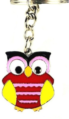 Chooz Designer Studio Cute Colorful Metal Owl Shaped Latest & Fashionable Metal Key Chain