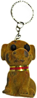 DCS Brown dog keychain Locking Carabiner