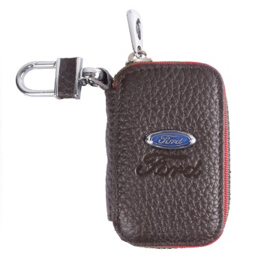 Heaven Deal Ford Key Small Brown Chain Car Remote Holder Locking Carabiner