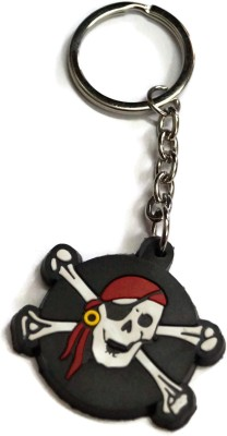 Fashion And Protection Pirate Face Keychain Locking Key Chain