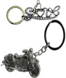 Alexus Love And Bike Key Chain (Silver)
