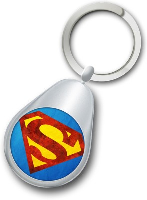 Shoppers Bucket Circle Superman Keychain Key Chain