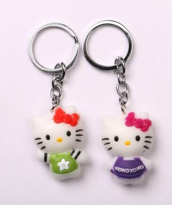 JDK Cute Catty Twin Design Key Chain