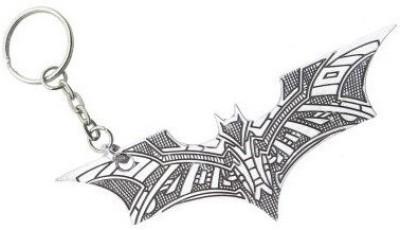 SURAJ ENTERPRISES Batman bat texture logo silver Metal Key ring for cars and bikes Key Chain