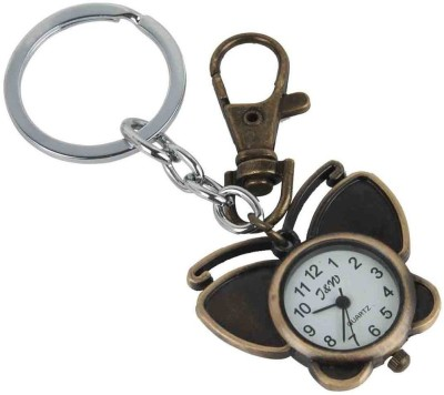 Kairos Premium Butterfly Pocket Watch Clock Keychain Key Chain