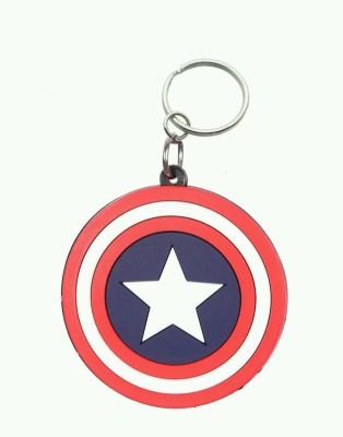 mapple captain amarican star silicon .jpeg Key Chain