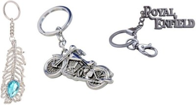 i-gadgets OMG Premium Stone Chopper Motorcycle and Royal Enfield Hook Key Chain