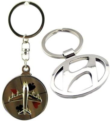 Alexus Aeroplane And Hyundai Key Chain