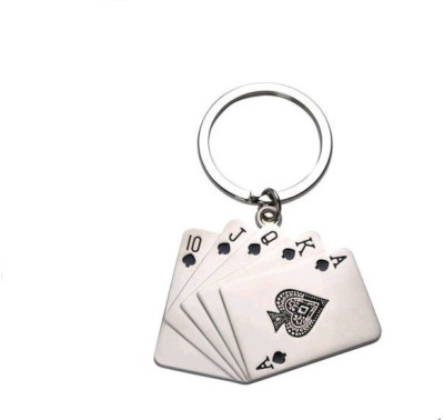 Ezone Playing Card Ring Keychain(Metal) Carabiner
