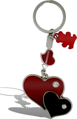 Get Fatang Double Heart with Diamond and Teddy Valentine Key Chain