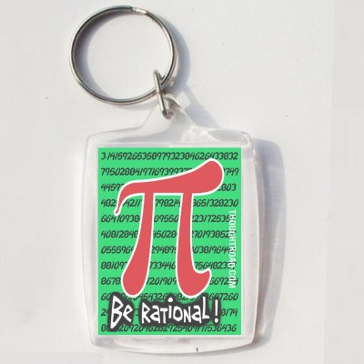 Thoughtroad BE RATIONAL Key Chain