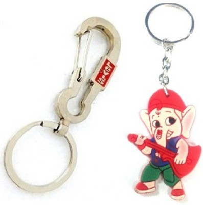 Ezone LEVIS Hook & Rubber Ganesh Key Chain Carabiner