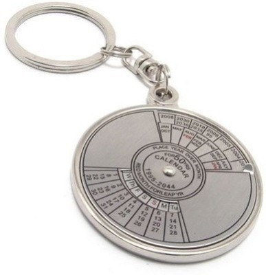 Ezone Compass Date Perpetual With Calendar Up-To 50 Years Key Chain