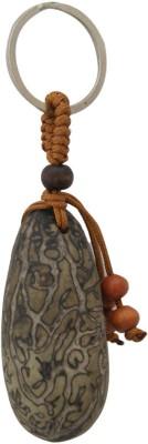 Aaradhi Divya Mantra Feng Shui Bodhi Tree Seed for Spiritual Attainment Locking Key Chain