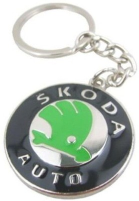 SPOTDEAL SSDL06 Skoda metail shap Key Chain
