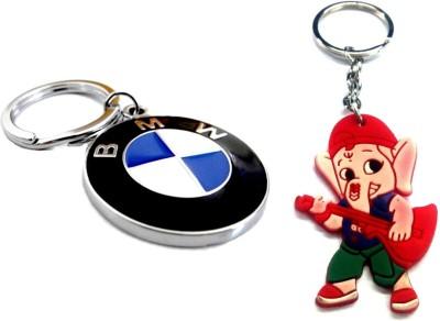 Ezone BMW Motorsports Metallic & Rubber Ganesh Key Chain Key Chain