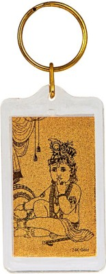 Siri Creations God Krishna with 24kt Gold Foil Key Chain