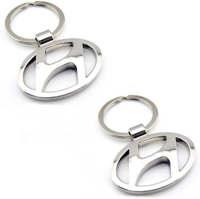 Onlinemart Hundai Full Metal KeyRing (Pack of 2) Key Chain
