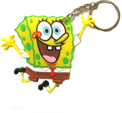 Optimum Deal Cute Sponge Bob Squarepant Figure Double Sided Rubber Key Chain