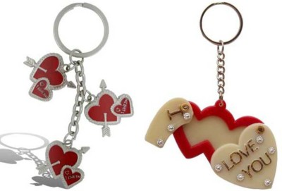 Rashi Traders Arrow 3 Heart + Heart Frame Key Chain