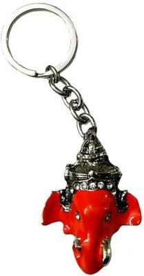 Rashi Traders Red Face Ganesh Key Chain