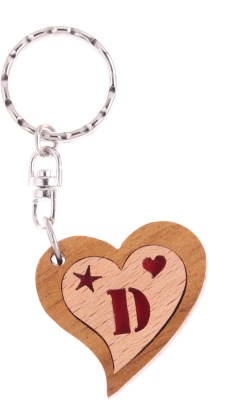 JM Alphabet D Heart Key Chain