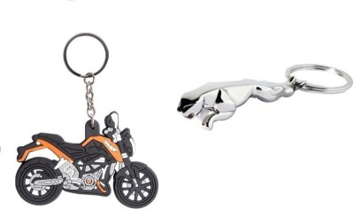 Chainz KTM Duke Silicon and Jaguar Metal 3D Key Chain