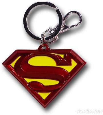 Skys&Ray Super Man Logo Key Chain Locking Key Chain