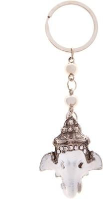VeeVi White Face Ganesh Key Chain Key Chain
