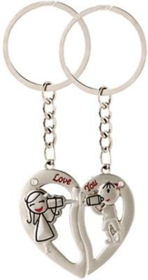 Anishop Valentine Gift Couple Heart Key Chain