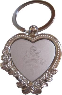 ShopnGift Heart Shaped Ganesh Engraved Key Chain