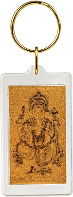 Siri Creations God Ganesha with 24kt Gold Foil Key Chain