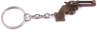 VeeVi Brass Color Metal Gun Key Chain