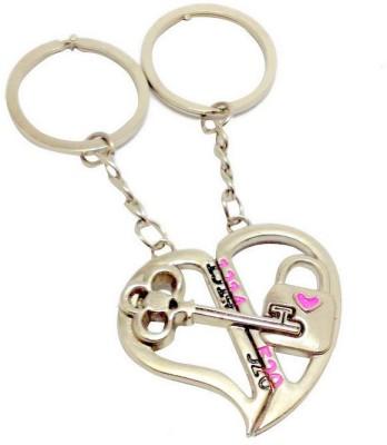 Anishop Couple Key Lock Key Chain