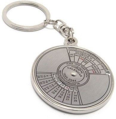 Indiashopers Compass Date Perpetual with Calendar up-to 50 Years Key Chain