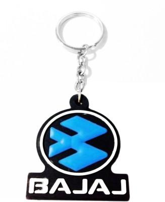 Tech Fashion Bajaj Blue Black Rubber Synthetic Locking Key Chain