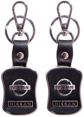 Homeproducts4u Nissan Leather Locking Keychain Pack Of 2-17 Key Chain