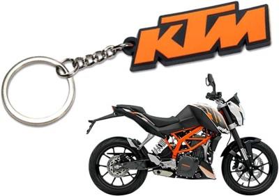 Confident SET OF O2 High Speed KTM BIKE And KTM LOGO Key Chain