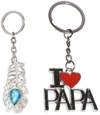 CTW I Love Papa & Omg Metal Combo Pack Key Chain